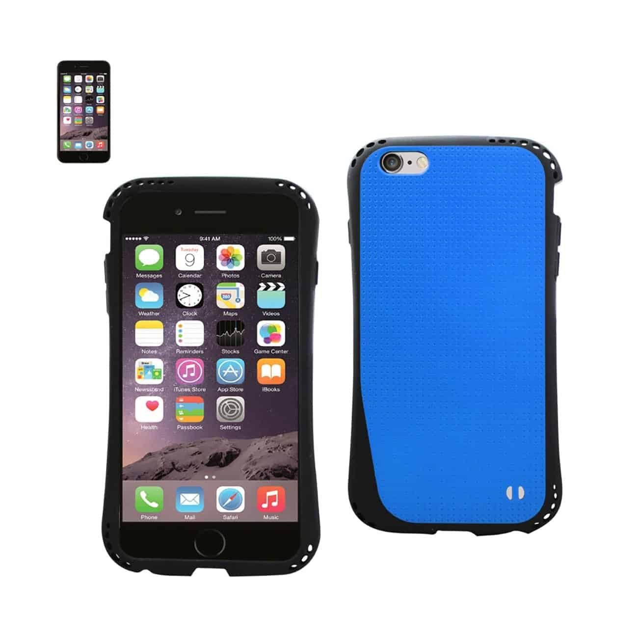 IPHONE 6 PLUS DROPPROOF AIR CUSHION CASE WITH CHAIN HOLE IN NAVY