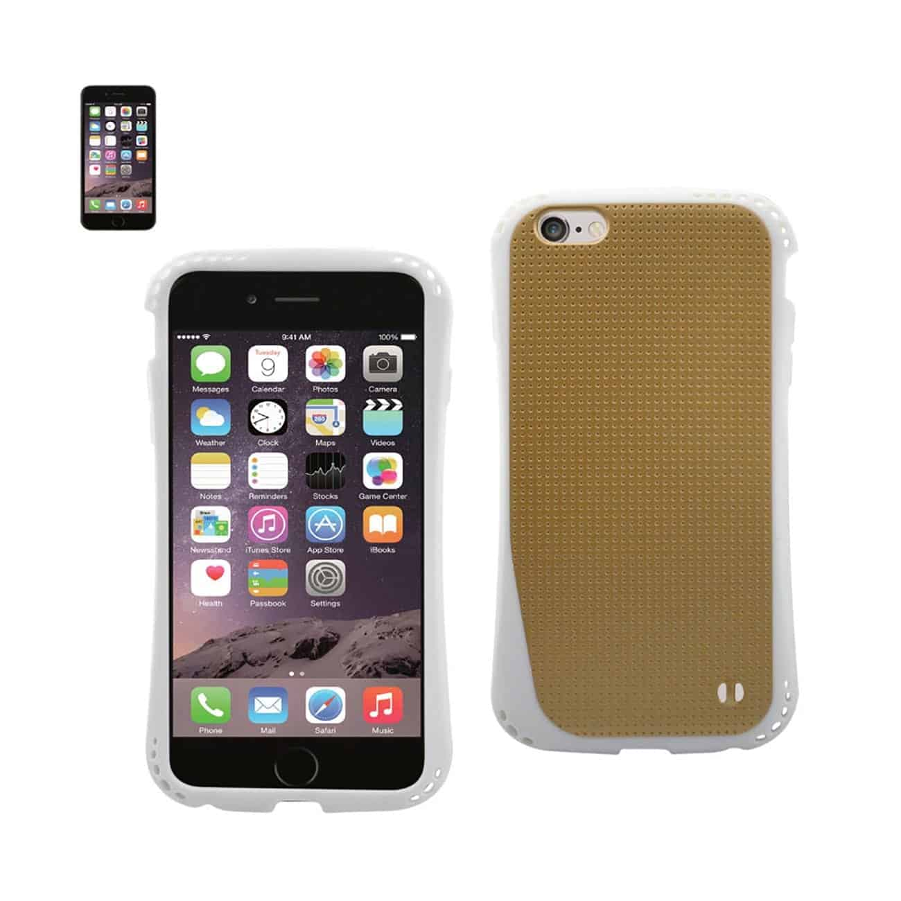 IPHONE 6 DROPPROOF AIR CUSHION CASE WITH CHAIN HOLE IN GOLD