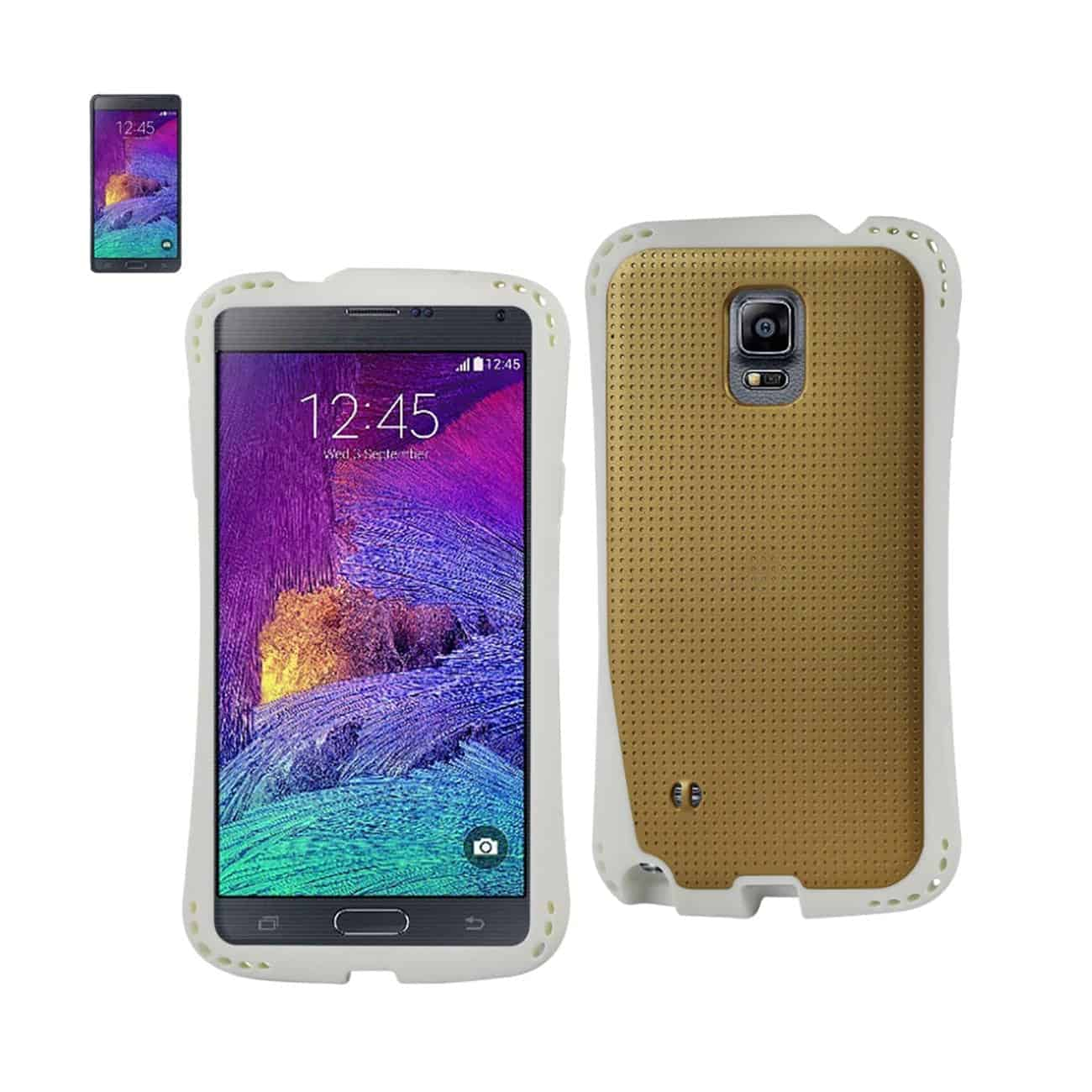 SAMSUNG GALAXY NOTE 4 DROPPROOF AIR CUSHION CASE WITH CHAIN HOLE IN GOLD
