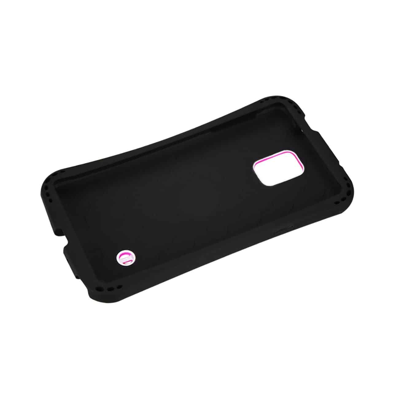 SAMSUNG GALAXY NOTE 4 DROPPROOF AIR CUSHION CASE WITH CHAIN HOLE IN HOT PINK
