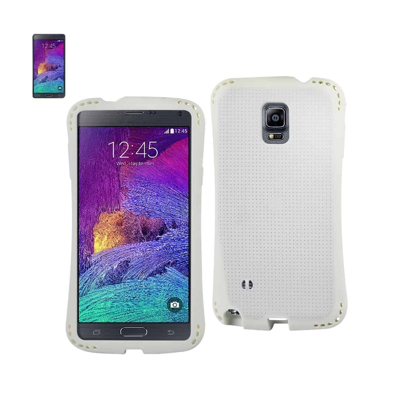 SAMSUNG GALAXY NOTE 4 DROPPROOF AIR CUSHION CASE WITH CHAIN HOLE IN WHITE