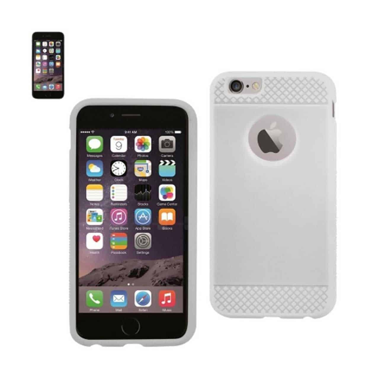 IPHONE 6 TPU RIDGES GEL CASE IN WHITE