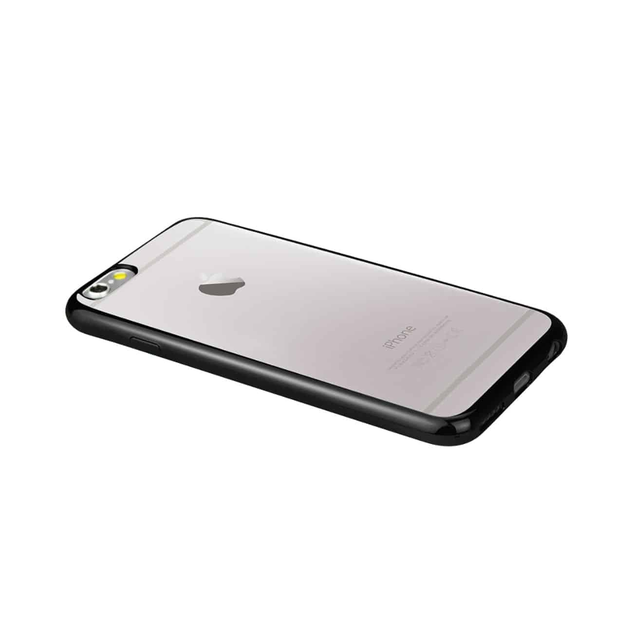 IPHONE 6 PLUS FRAME CASE WITH CLEAR BACK IN BLACK
