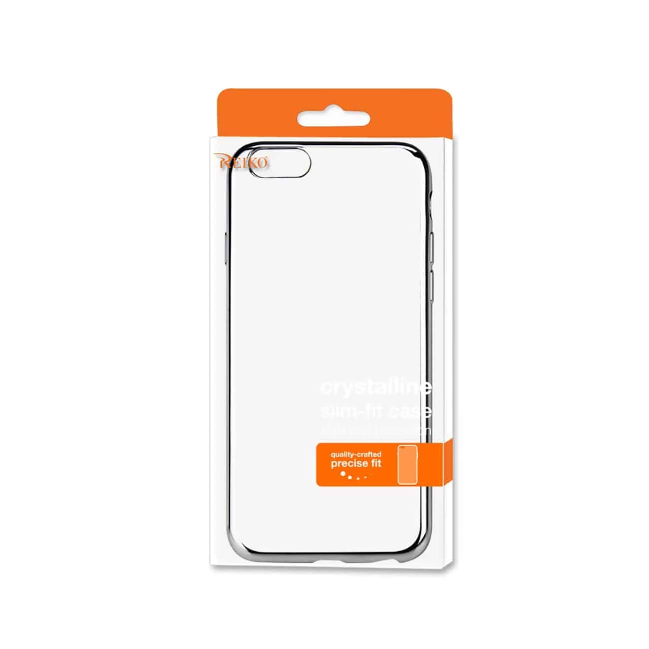 IPHONE 6 PLUS FRAME CASE WITH CLEAR BACK IN SILVER