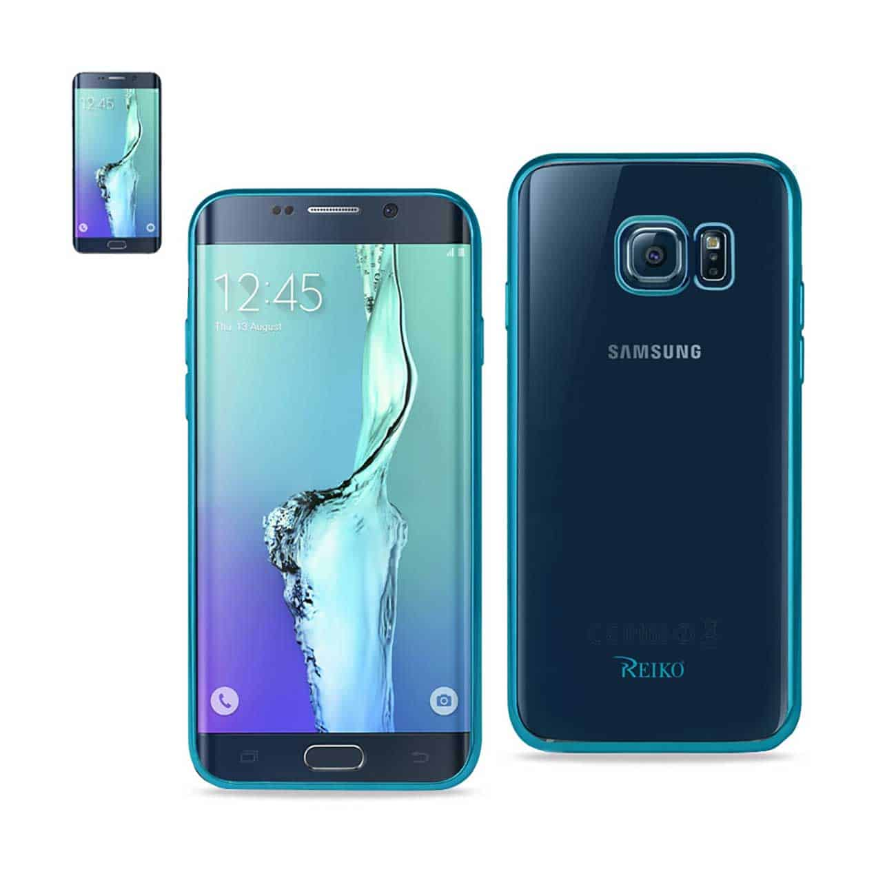SAMSUNG GALAXY S6 EDGE PLUS FRAME CASE IN SHINY BLUE