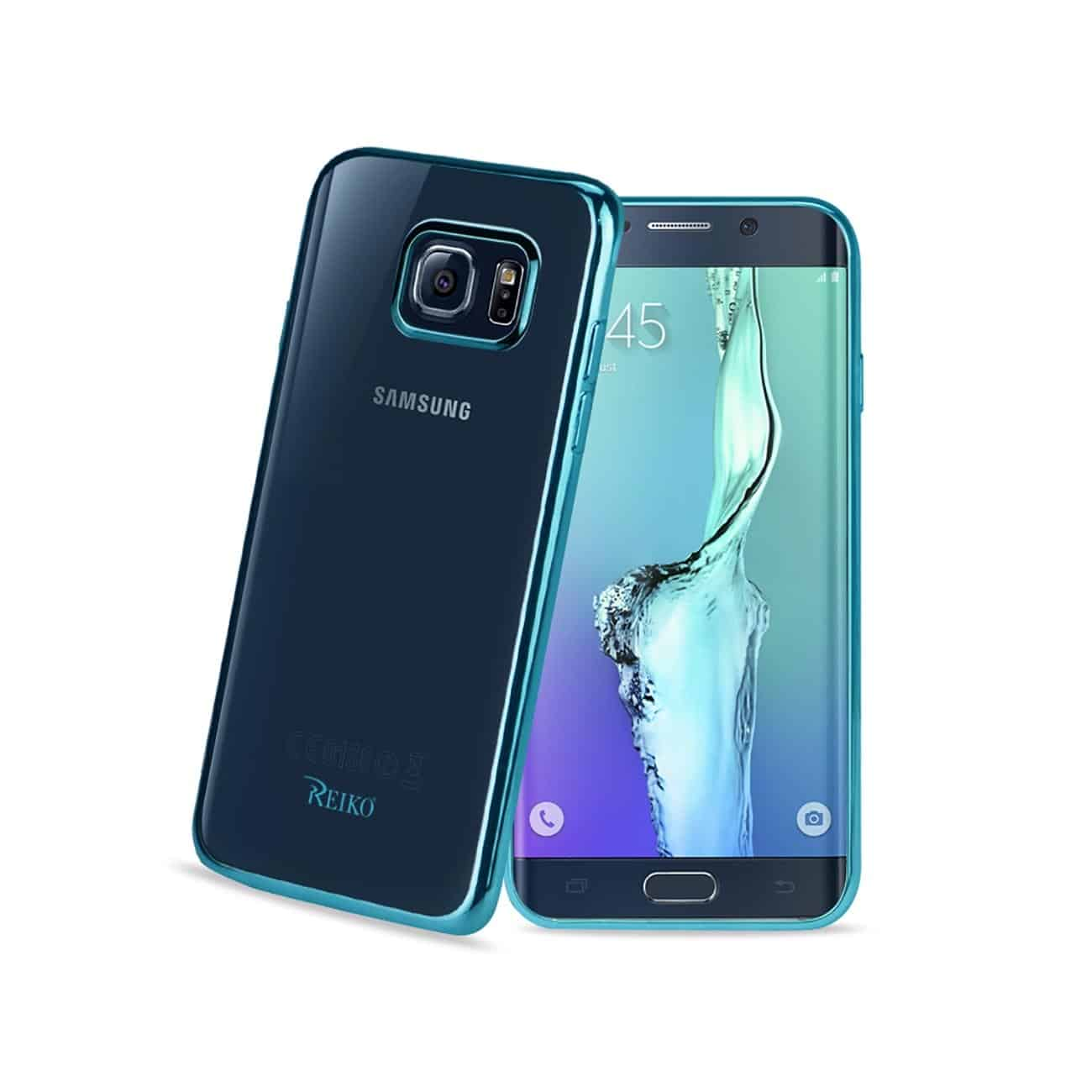 SAMSUNG GALAXY S6 EDGE FRAME CASE IN SHINY BLUE