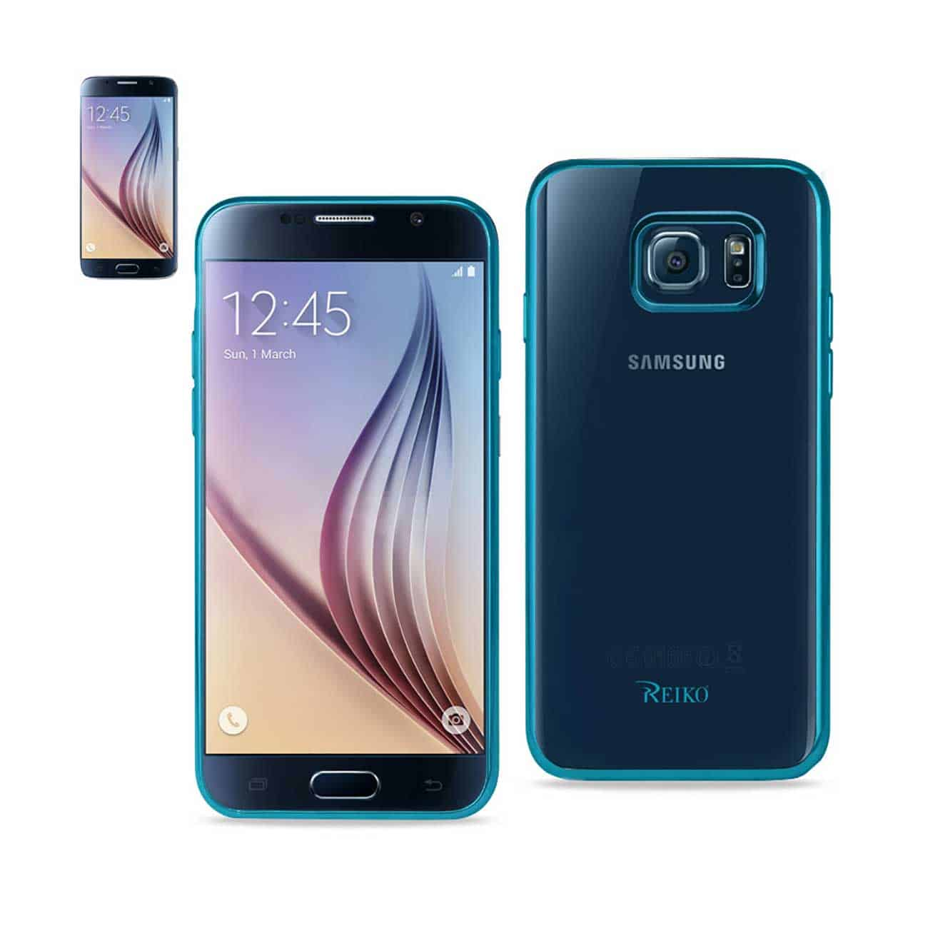 SAMSUNG GALAXY S6 FRAME CASE IN SHINY BLUE