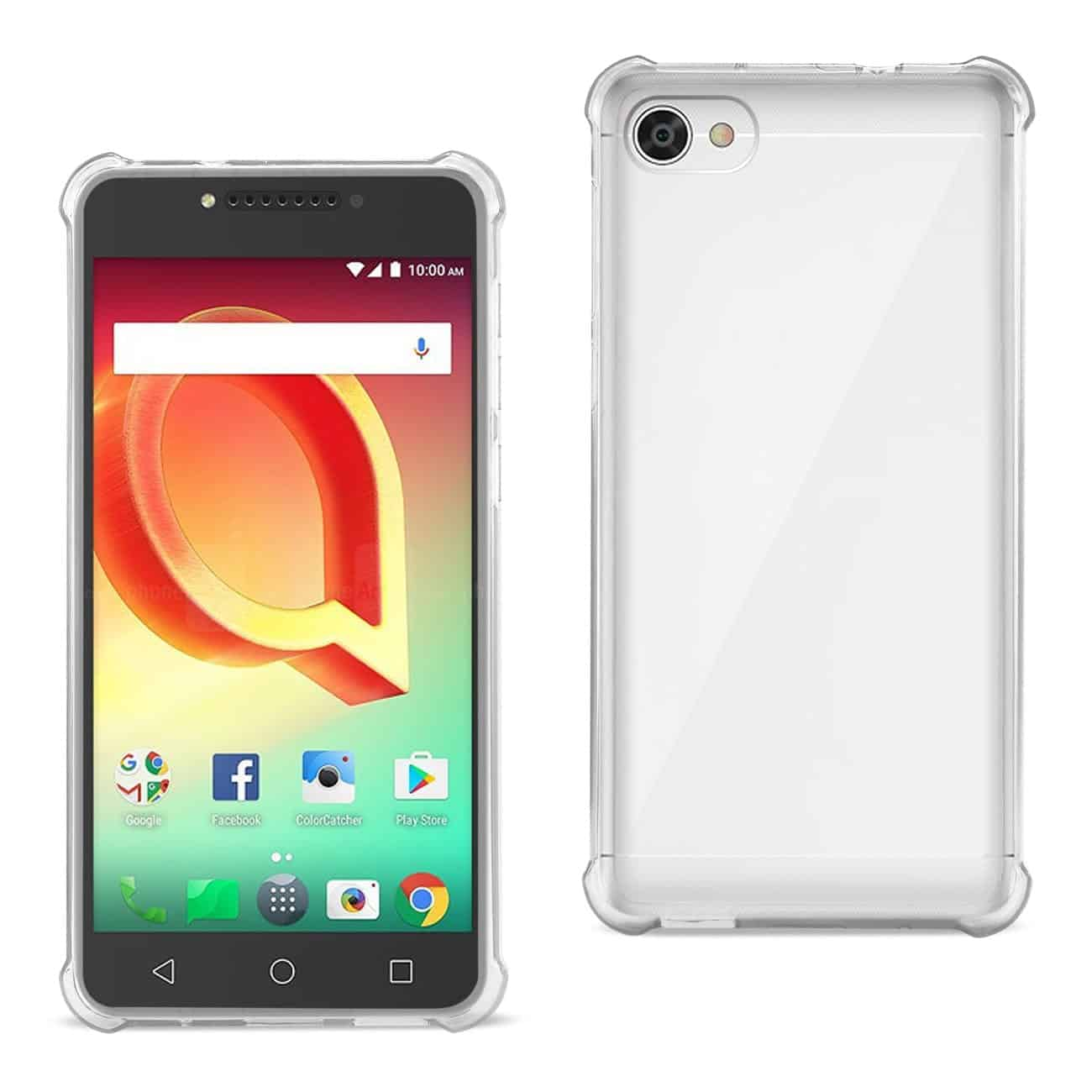 ALCATEL CRAVE CLEAR BUMPER CASE WITH AIR CUSHION PROTECTION IN CLEAR