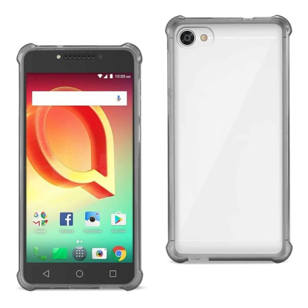 ALCATEL CRAVE CLEAR BUMPER CASE WITH AIR CUSHION PROTECTION IN CLEAR BLACK