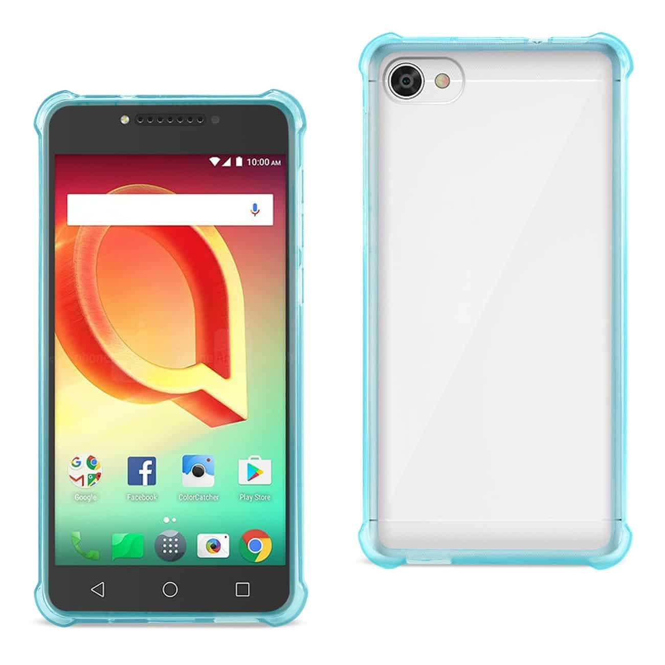 Alcatel Crave Clear Bumper Case With Air Cushion Protection In Clear Navy