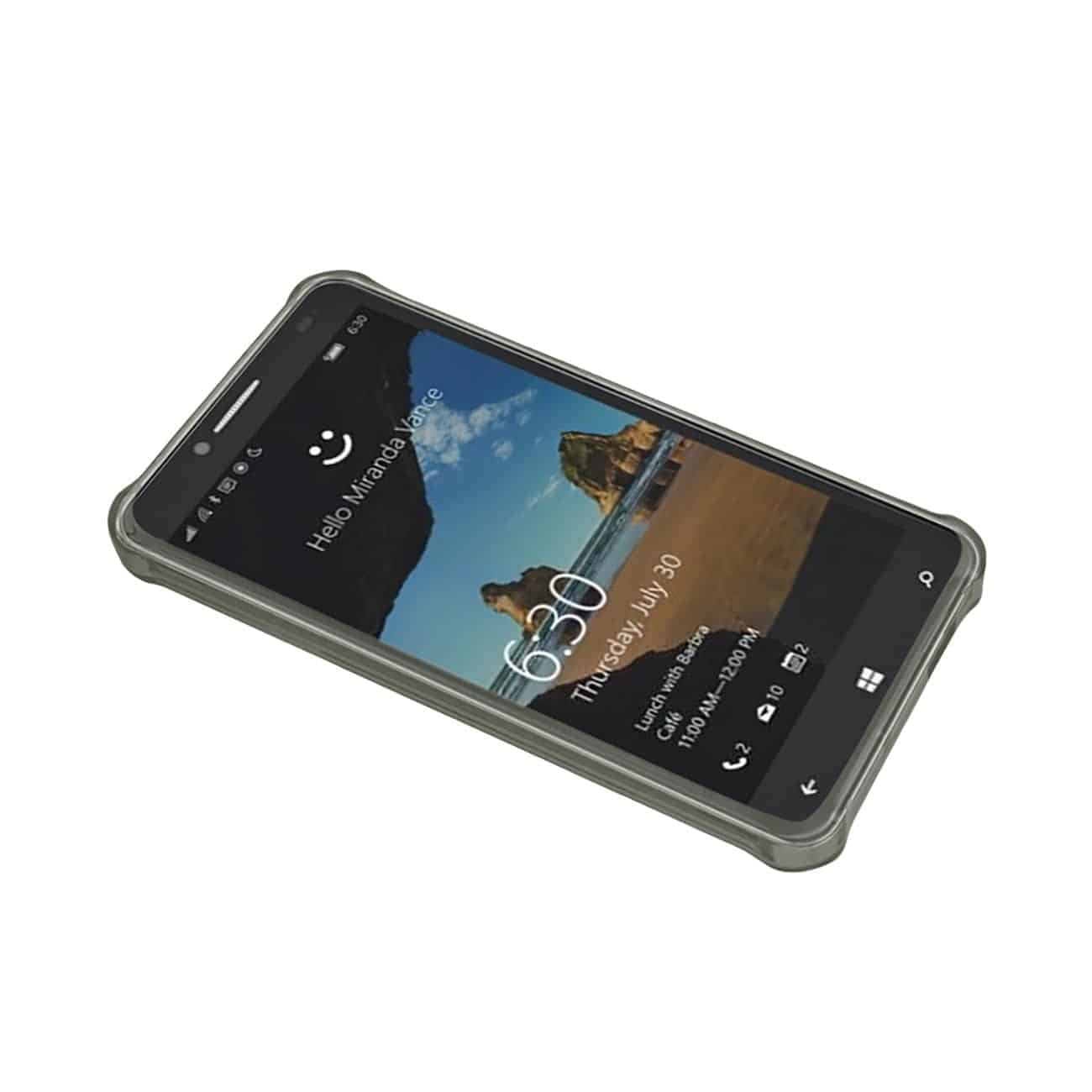 ALCATEL ONE TOUCH FIERCE XL MIRROR EFFECT CASE WITH AIR CUSHION PROTECTION IN CLEAR BLACK