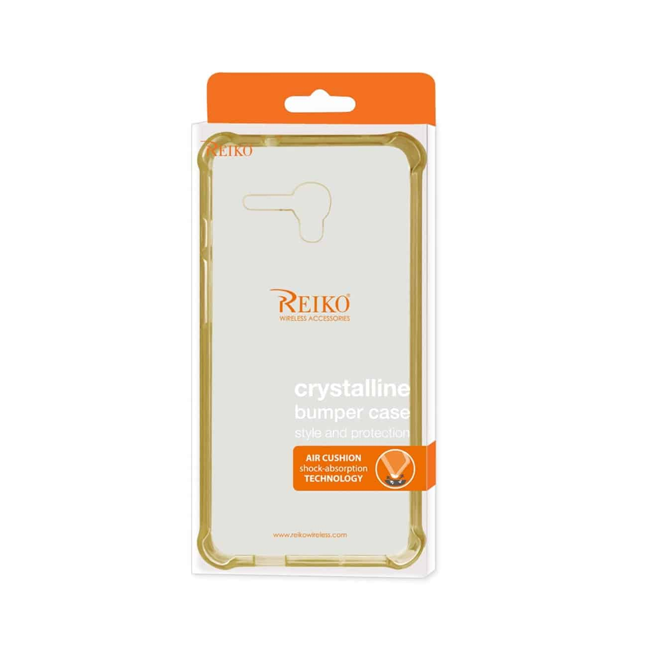 ALCATEL ONE TOUCH FIERCE XL MIRROR EFFECT CASE WITH AIR CUSHION PROTECTION IN CLEAR GOLD