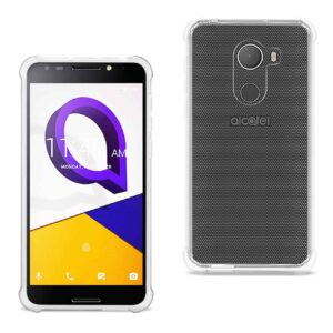 ALCATEL WALTERS CLEAR BUMPER CASE WITH AIR CUSHION PROTECTION IN CLEAR