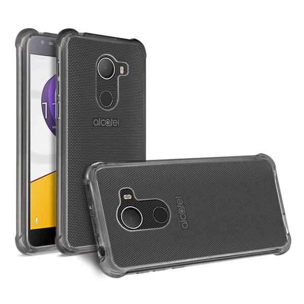 ALCATEL WALTERS CLEAR BUMPER CASE WITH AIR CUSHION PROTECTION IN CLEAR BLACK
