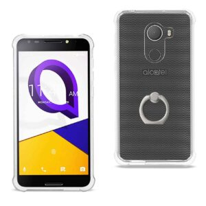 ALCATEL WALTERS TRANSPARENT AIR CUSHION PROTECTOR BUMPER CASE WITH RING HOLDER IN CLEAR