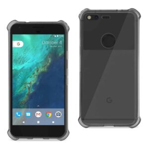 GOOGLE PIXEL CLEAR BUMPER CASE WITH AIR CUSHION PROTECTION IN CLEAR BLACK