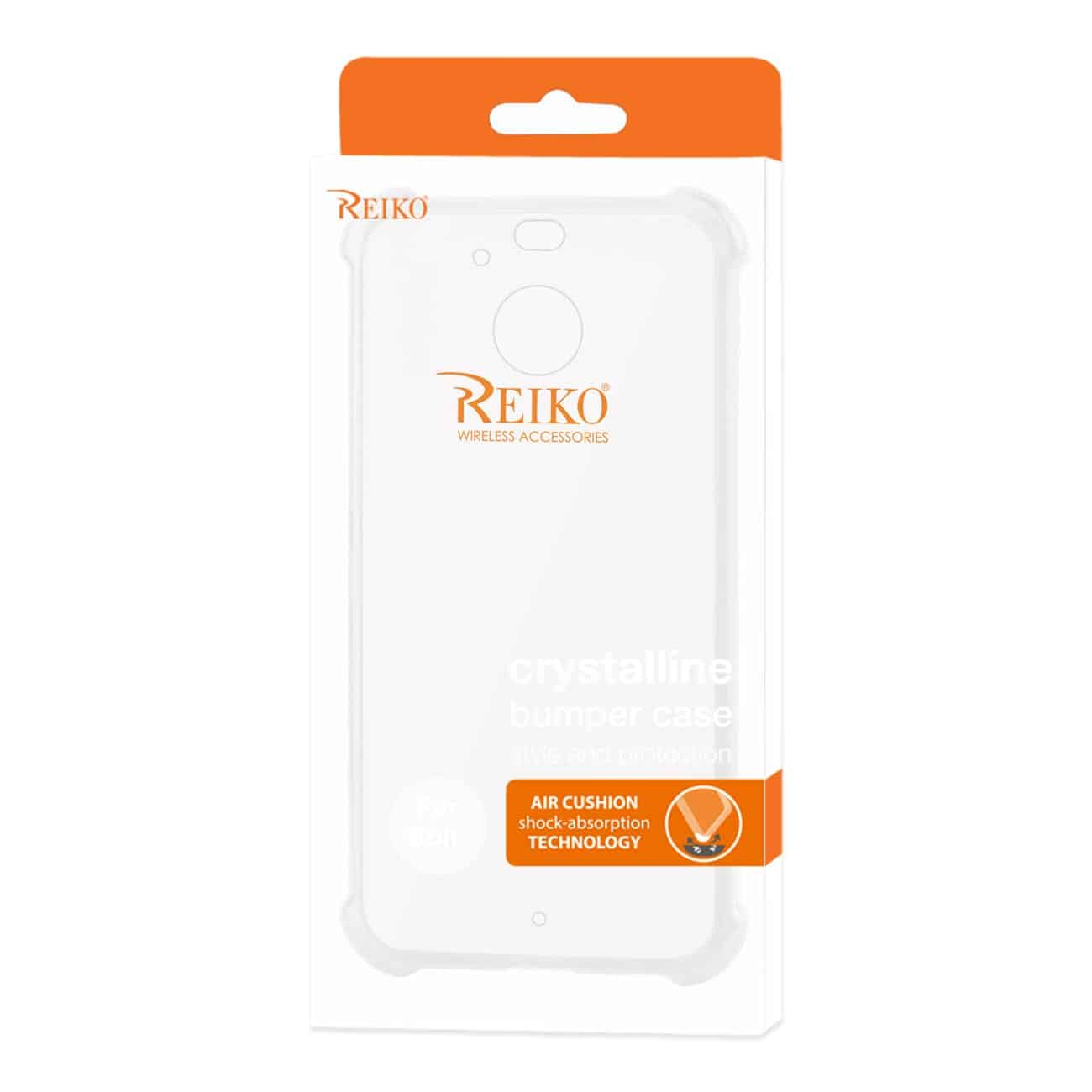 HTC BOLT CLEAR BUMPER CASE WITH AIR CUSHION PROTECTION IN CLEAR