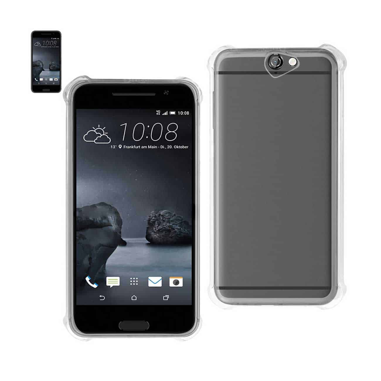 HTC ONE A9 MIRROR EFFECT CASE WITH AIR CUSHION PROTECTION IN CLEAR