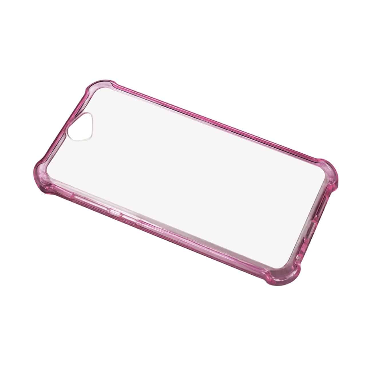 HTC ONE A9 MIRROR EFFECT CASE WITH AIR CUSHION PROTECTION IN CLEAR HOT PINK