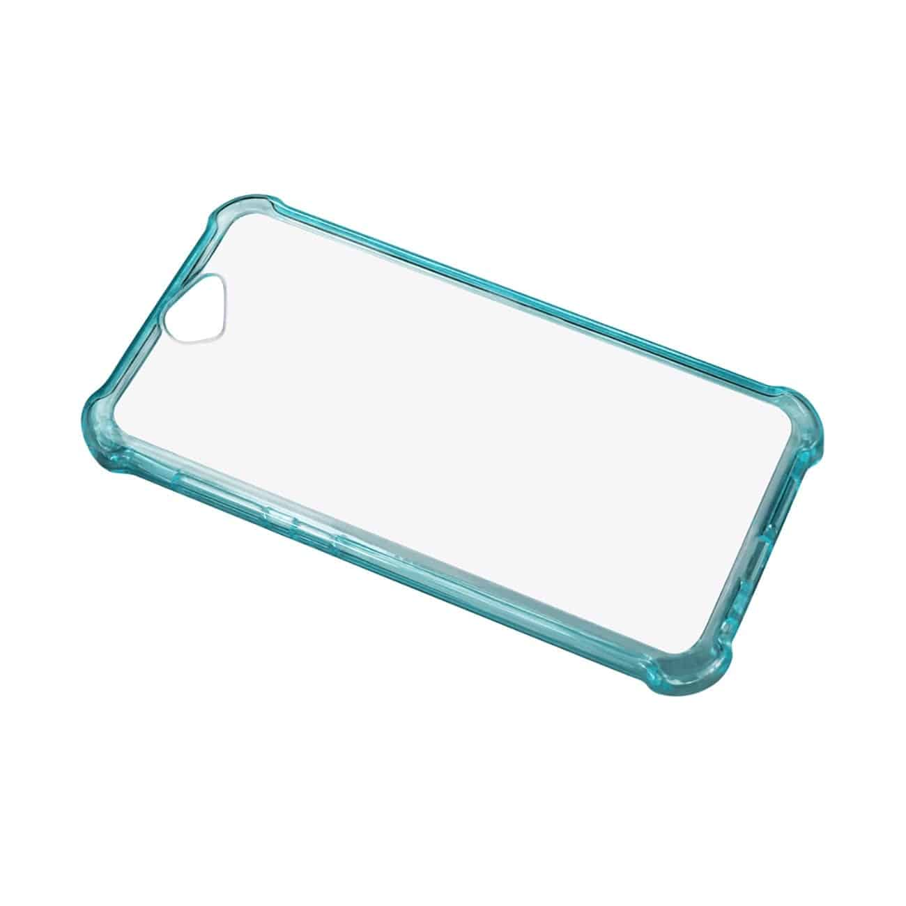 HTC ONE A9 MIRROR EFFECT CASE WITH AIR CUSHION PROTECTION IN CLEAR NAVY