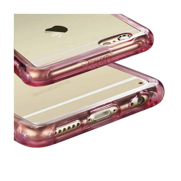 iPhone 6S Plus/ 6 Plus Clear Bumper Case With Air Cushion Protection In Clear Hot Pink