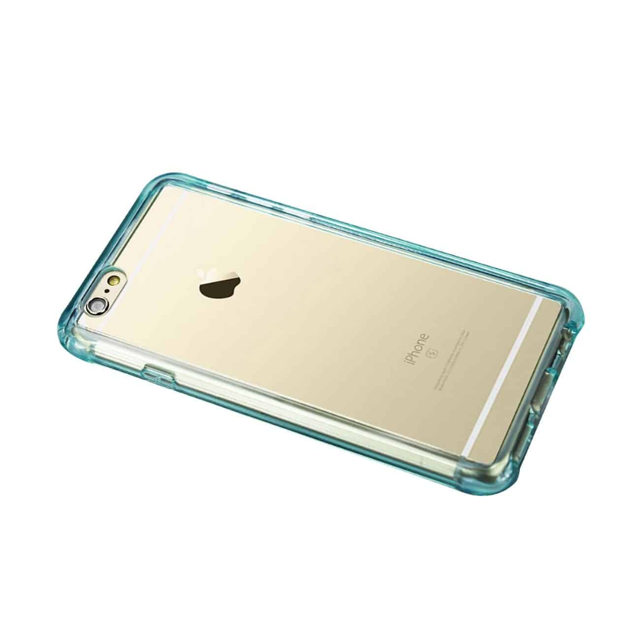 IPHONE 6 PLUS MIRROR EFFECT CASE WITH AIR CUSHION PROTECTION IN CLEAR NAVY
