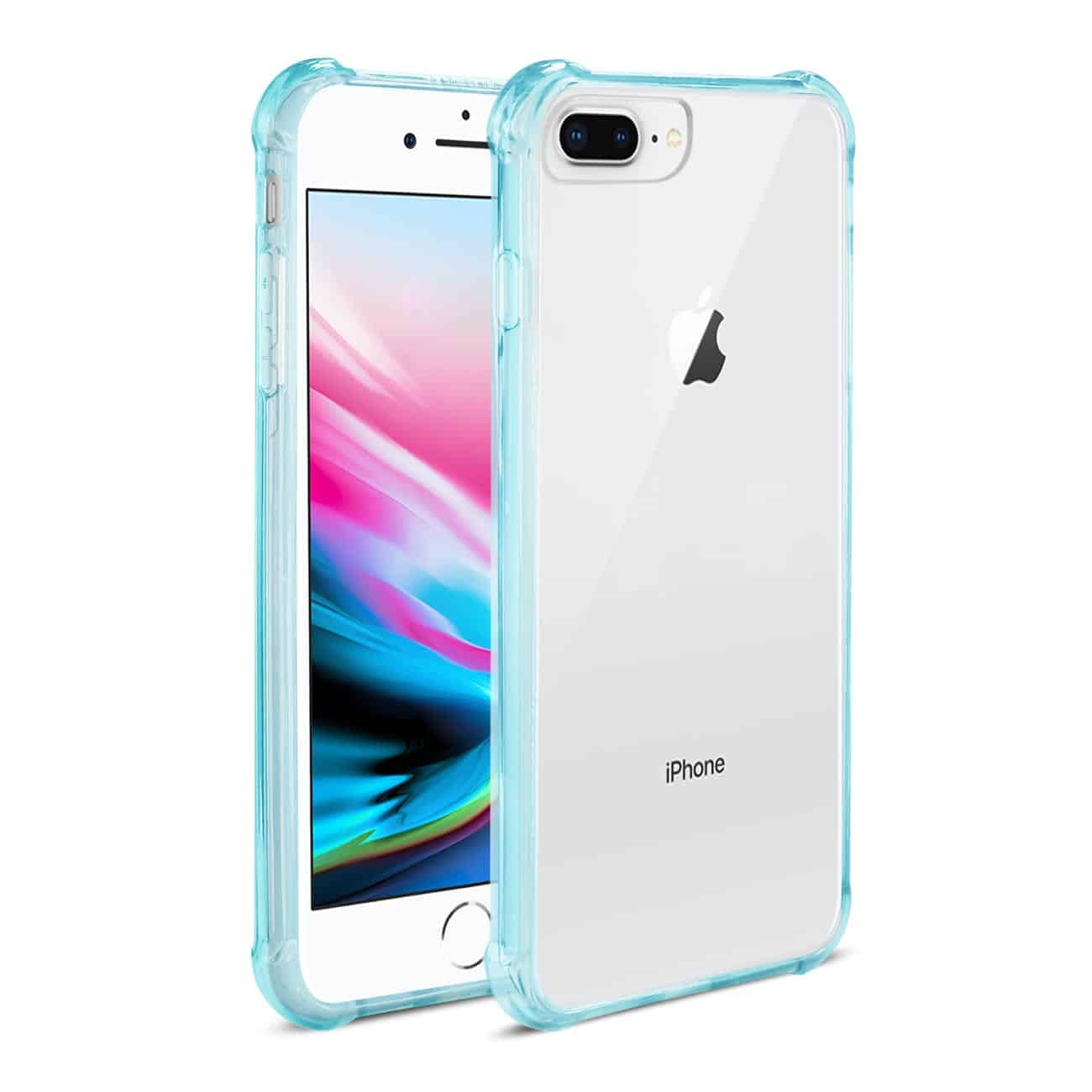 iPhone 8 Plus Clear Bumper Case With Air Cushion Protection In Clear Navy
