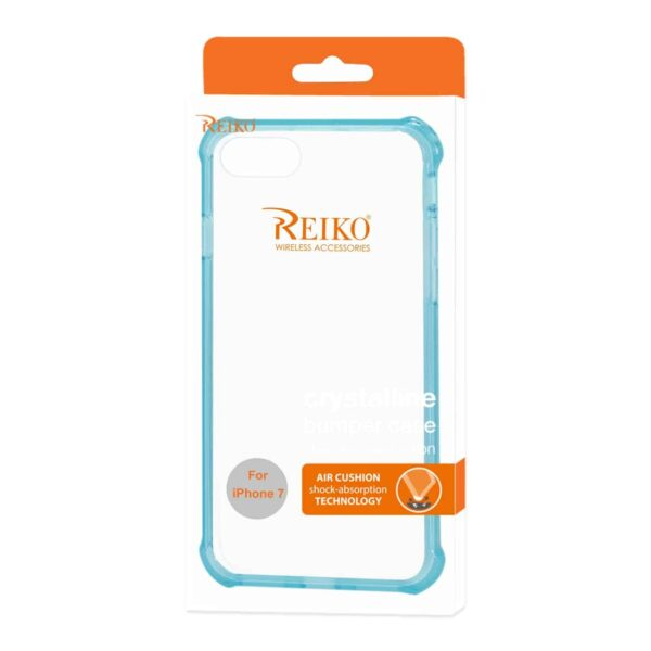IPHONE 7 CLEAR BUMPER CASE WITH AIR CUSHION PROTECTION IN CLEAR NAVY