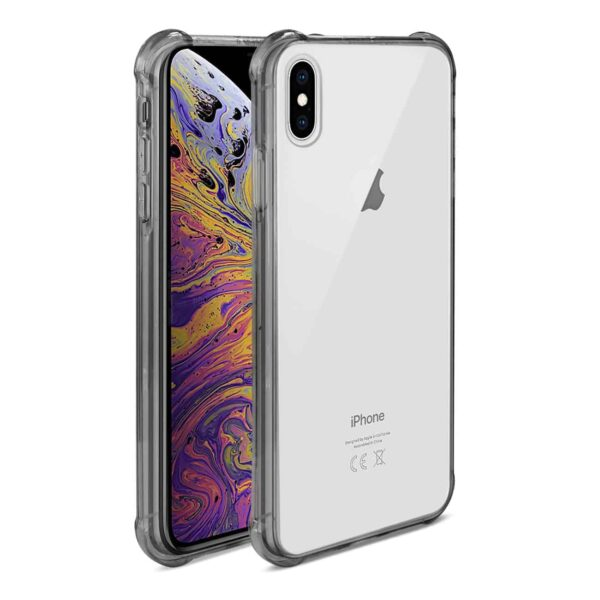iPhone XS Max Clear Bumper Case With Air Cushion Protection In Clear Black