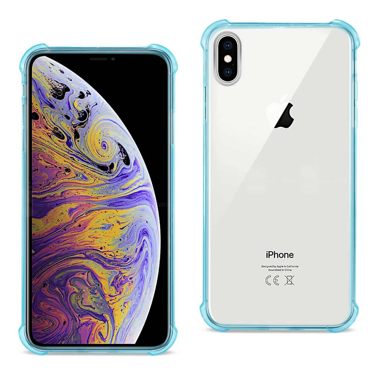 iPhone XS Max Clear Bumper Case With Air Cushion Protection In Clear Navy