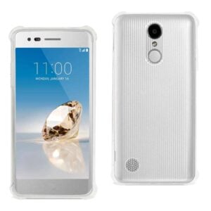 LG ARISTO/ FORTUNE/ PHOENIX 3 CLEAR BUMPER CASE WITH AIR CUSHION PROTECTION IN CLEAR