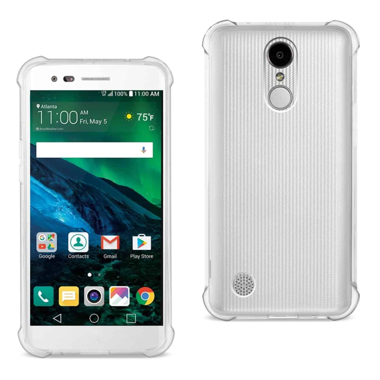 LG FORTUNE/ PHOENIX 3/ ARISTO CLEAR BUMPER CASE WITH AIR CUSHION PROTECTION IN CLEAR