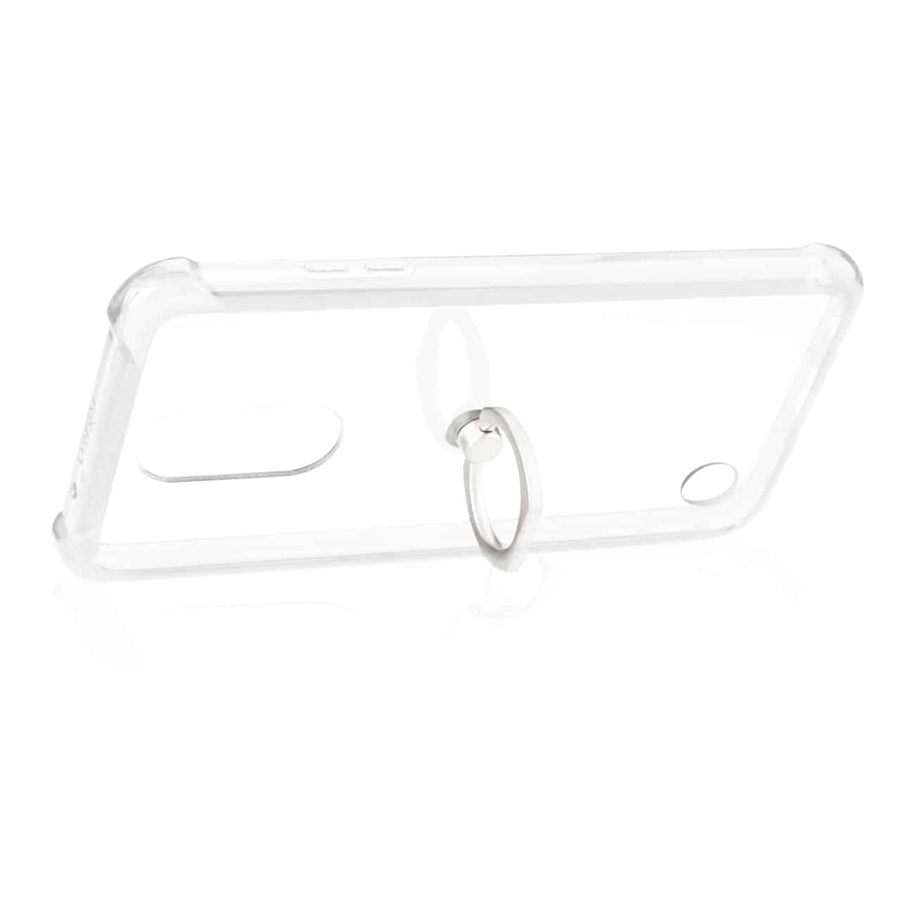LG FORTUNE/ PHOENIX 3/ ARISTO TRANSPARENT AIR CUSHION PROTECTOR BUMPER CASE WITH RING HOLDER IN CLEAR