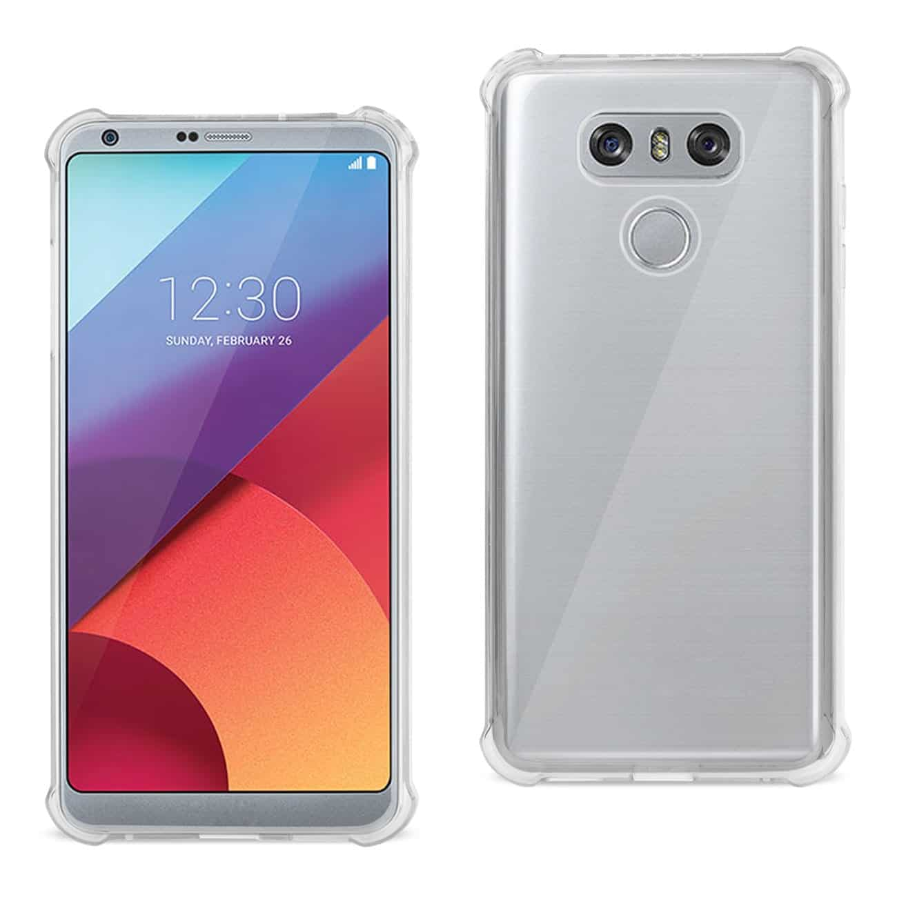 LG G6 CLEAR BUMPER CASE WITH AIR CUSHION SHOCK ABSORPTION IN CLEAR