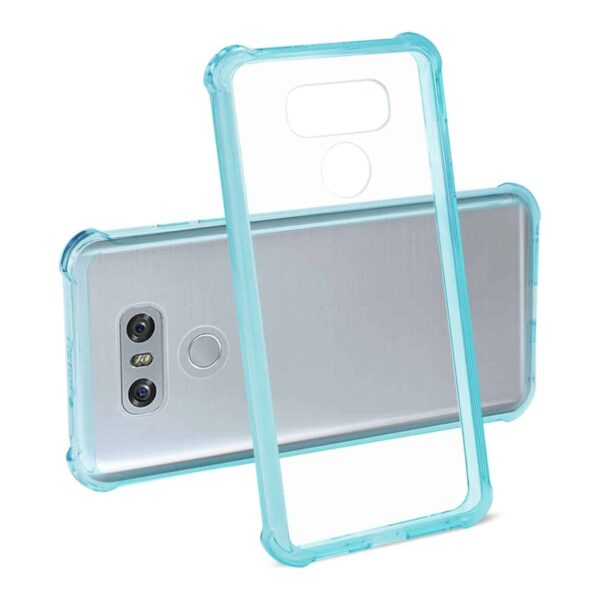 LG G6 CLEAR BUMPER CASE WITH AIR CUSHION SHOCK ABSORPTION IN CLEAR NAVY