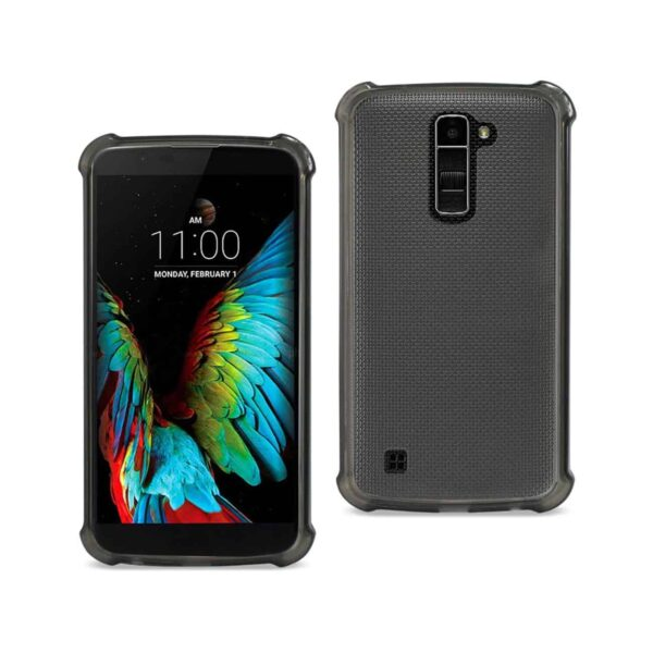 LG K10 MIRROR EFFECT CASE WITH AIR CUSHION PROTECTION IN CLEAR BLACK