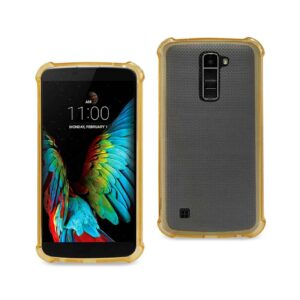 LG K10 MIRROR EFFECT CASE WITH AIR CUSHION PROTECTION IN GOLD