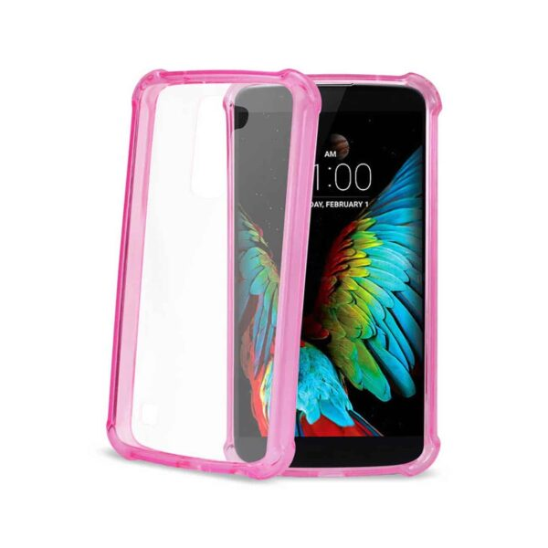 LG K10 MIRROR EFFECT CASE WITH AIR CUSHION PROTECTION IN HOT PINK
