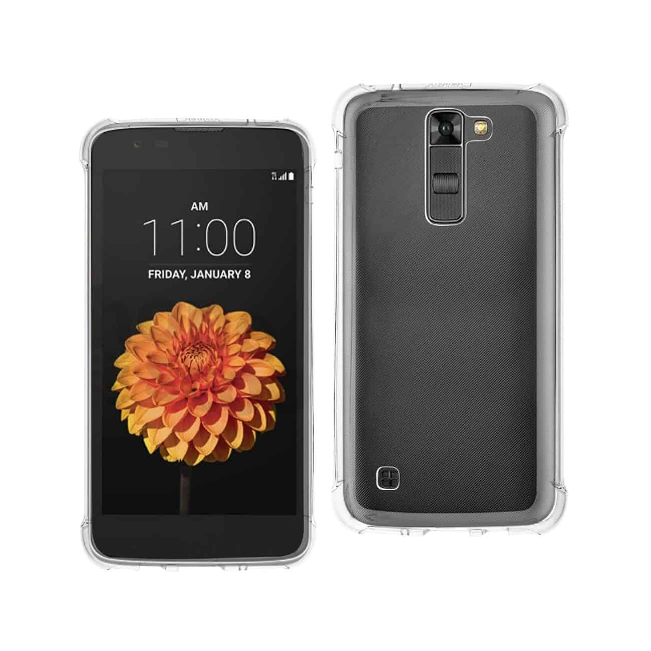 LG K7 CLEAR BUMPER CASE WITH AIR CUSHION PROTECTION IN CLEAR