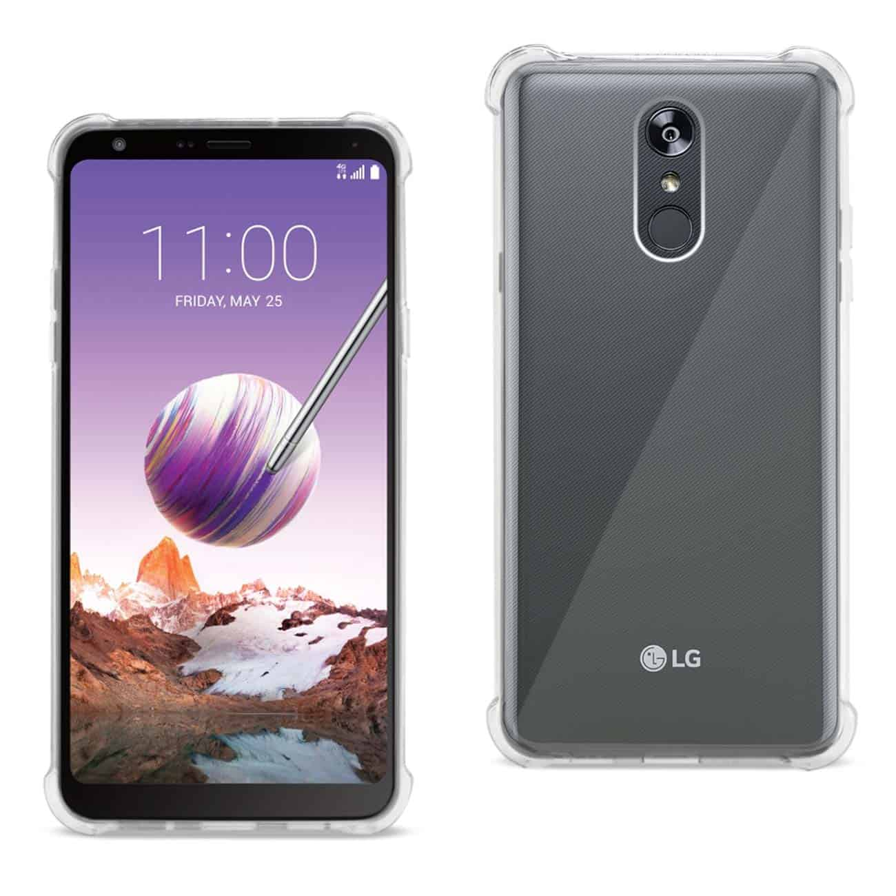 LG Stylo 4 Clear Bumper Case With Air Cushion Protection In Clear