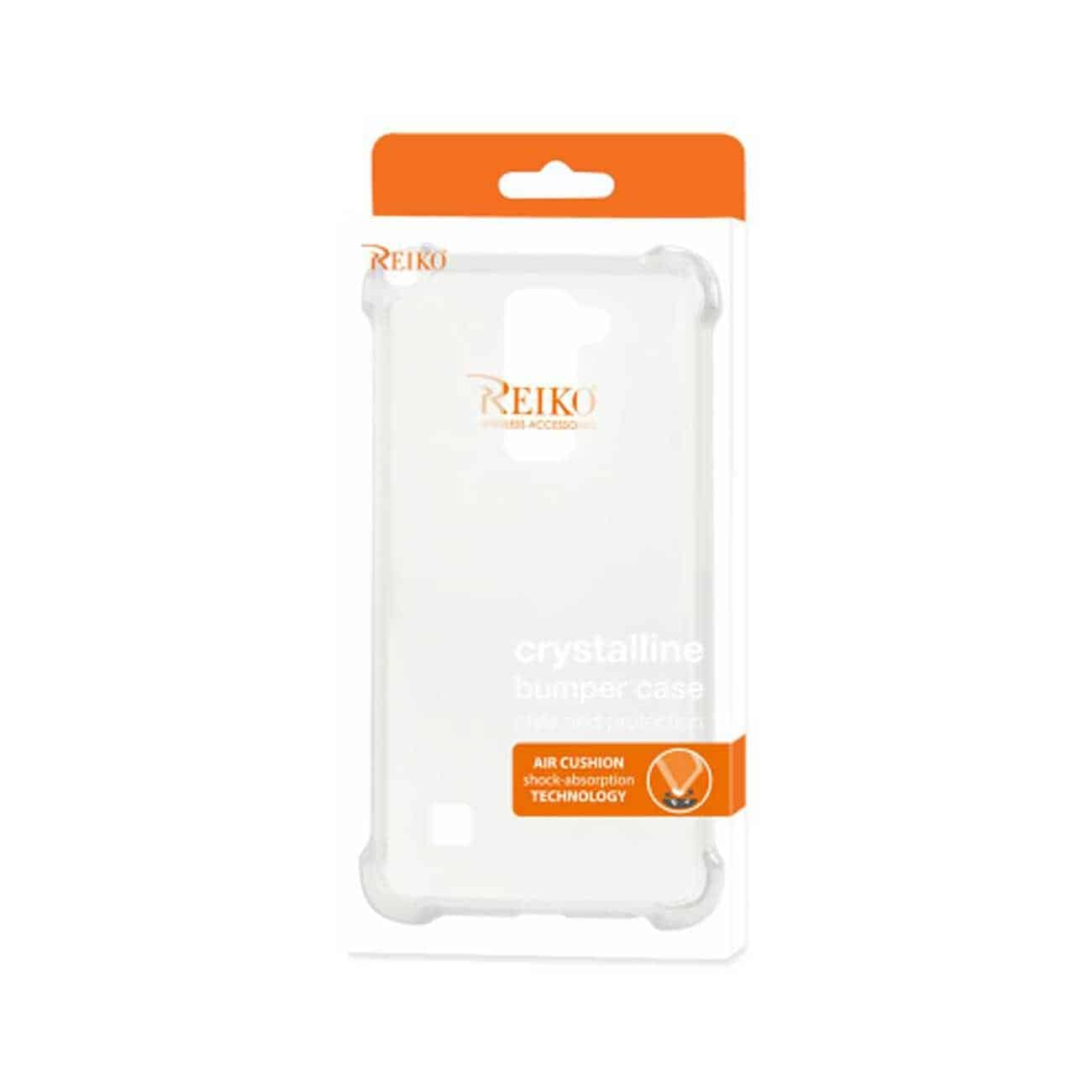LG STYLUS 2 CLEAR BUMPER CASE WITH AIR CUSHION PROTECTION IN CLEAR