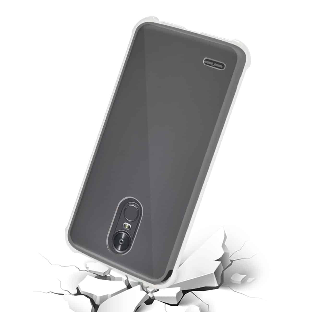 LG STYLO 3 STYLUS 3 CLEAR BUMPER CASE WITH AIR CUSHION PROTECTION IN CLEAR