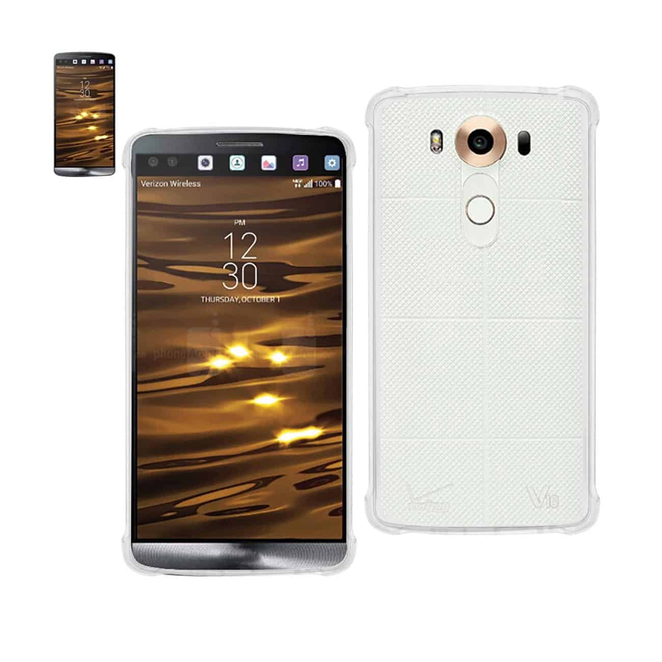 LG V10 MIRROR EFFECT CASE WITH AIR CUSHION PROTECTION IN CLEAR