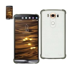 LG V10 MIRROR EFFECT CASE WITH AIR CUSHION PROTECTION IN CLEAR BLACK