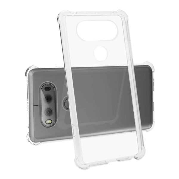 LG V20 5.7 INCHES CLEAR BUMPER CASE WITH AIR CUSHION PROTECTION IN CLEAR