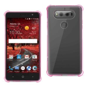 LG V20 5.7 INCHES CLEAR BUMPER CASE WITH AIR CUSHION PROTECTION IN CLEAR HOT PINK