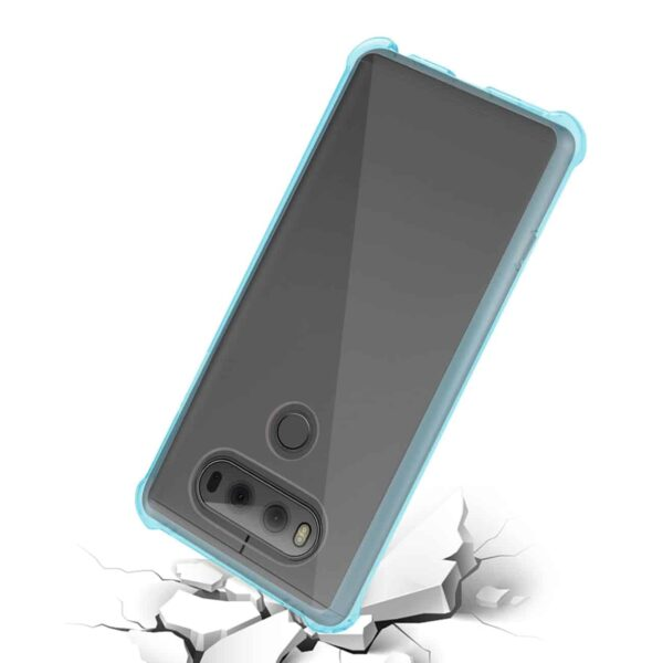 LG V20 5.7 INCHES CLEAR BUMPER CASE WITH AIR CUSHION PROTECTION IN CLEAR NAVY