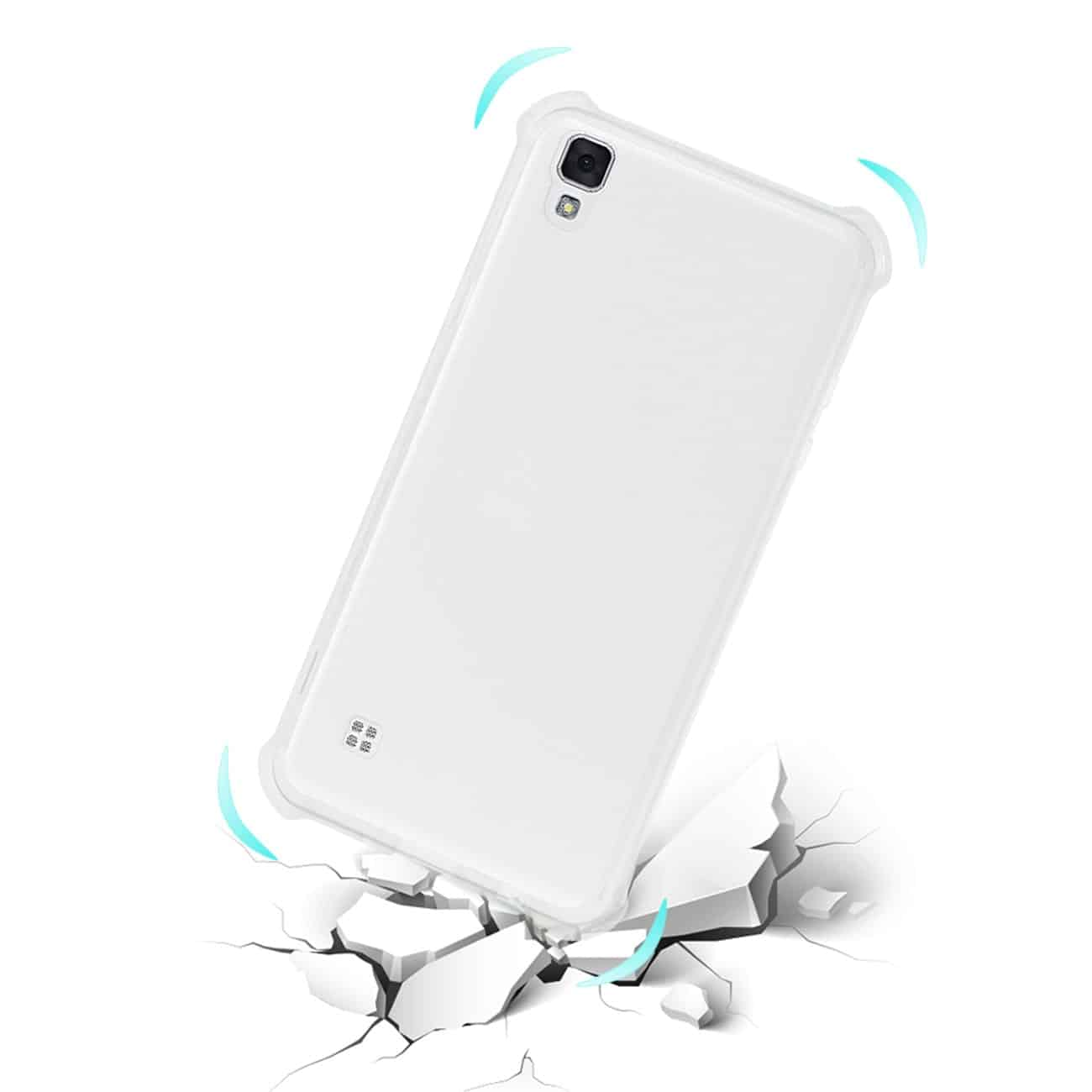 LG X STYLE (TRIBUTE HD) BUMPER CASE WITH AIR CUSHION PROTECTION IN CLEAR