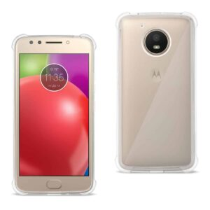 MOTOROLA MOTO E4 ACTIVE CLEAR BUMPER CASE WITH AIR CUSHION PROTECTION IN CLEAR