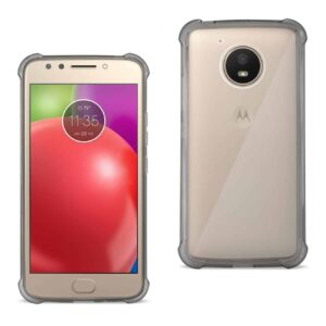 MOTOROLA MOTO E4 ACTIVE CLEAR BUMPER CASE WITH AIR CUSHION PROTECTION IN CLEAR BLACK